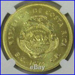 1974 Gold Costa Rica 1500 Colones Wwf Anteater Ngc Mint State 67 Mintage 2,418