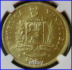 1975 Gold Venezuela 1000 Bolivares Wwc Rock Bird Ngc Mint State 66