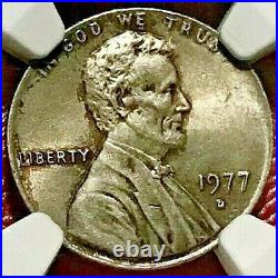 1977-d Lincoln Cent On Dime Planchet Ngc Ms-63 Off-metal Mint Error