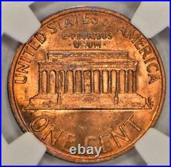 197X-D Lincoln Cent Obverse Counter Brockage Mint Error NGC MS-65 RD Neat Error