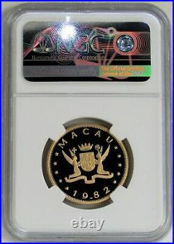 1982 Pm Gold Macau 255 Minted 1000 Patacas Lunar Year Of The Dog Ngc Proof 69 Uc