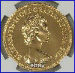 1984 Gold Great Britain 5 Pounds Sovereign Coin Ngc Mint State 68