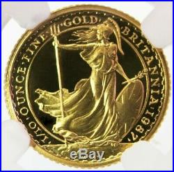 1987 Gold Great Britain Ngc Proof 70 Uc 1/10 Oz Britannia Coin Only 1,000 Minted