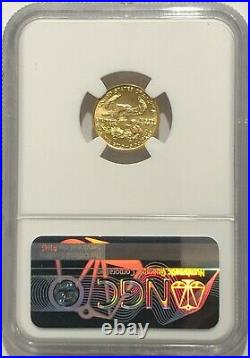 1993 Ngc Ms70 $5 Mint State Gold American Eagle 1/10 Oz Age Low Mintage Rare