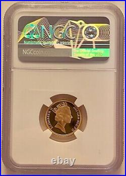 1995 Half 1/2 Gold Proof Sovereign Coin, NGC PF70 UCAM, Royal Mint