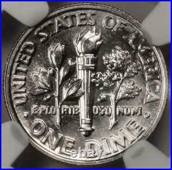 1996 W NGC MS64 Major Stuck Thru Rare Dime Mint Error Many Fibers Showing Cloth