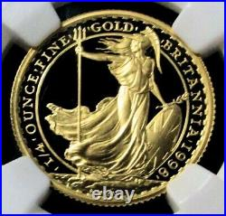 1998 Gold Great Britain 750 Minted 25 Pounds Ngc Proof 69 Ultra Cameo Britannia
