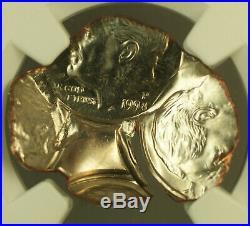 1998-P Mint Error STRUCK FOUR TIMES OFF CENTER Roosevelt Dime 10c Coin NGC MS-65