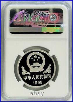 1998 Platinum China 300 Minted Ngc Pf 70 Uc 100 Yuan Tiger Proof Coin