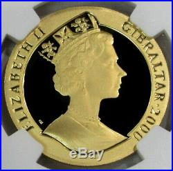 2000 Gold Gibraltar 999 Minted Ngc Proof 70 Ultra Cameo 1/2 Cr Penny Post Stamp