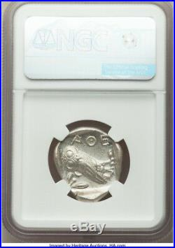 2000 YEAR OLD MINT STATE 440-04 BC Greece Athens AR tetradrachm NGC MS 3/5 3/5