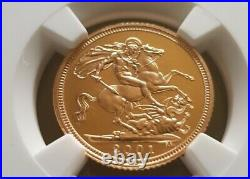 2001 Gold Proof Half Sovereign NGC PF 70 Ultra Cameo. Royal Mint 1/2 Sovereign