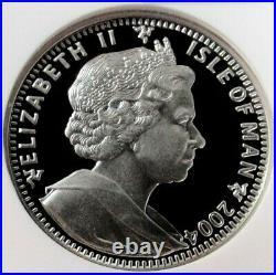 2004 Palladium Isle Of Man 300 Minted 2 Oz Ngc Proof 69 Uc Palladium Discovery