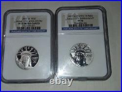 2007W $50 1/2 oz Platinum Eagle Reverse Proof PF70 Official US Mint Set 10th Ann