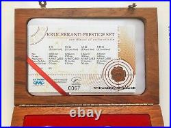 2008 South Africa 4 x Gold Coins Coin Krugerrand Prestige Set SA MINT COA BOX
