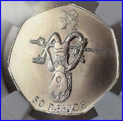 2009 Blue Peter Olympics 50p Royal Mint MS69 NGC Britain TOP POP High Jump