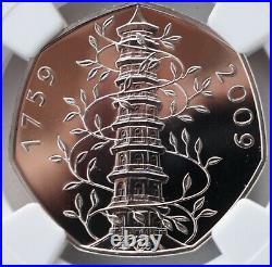 2009 Kew Gardens 50p Royal Mint Fifty Pence MS68 NGC Great Britain UK BU