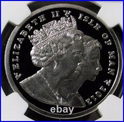 2012 Palladium 999 Minted Isle Of Man Proof 1 Noble Ngc Proof 70 Ultra Cameo