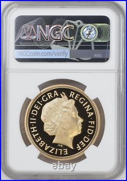 2012 Royal Mint Diamond Jubilee Gold Proof Five Pounds £5 NGC PF70