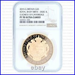 2015 Royal Mint Royal Birth Princess Charlotte Gold Proof Five Pounds Ngc Pr70