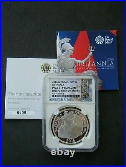 2016 Royal Mint Britannia £2 Two Pound Silver Proof 1oz Coin NGC PF69 UC COA 500