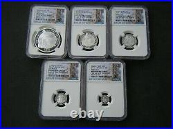 2016 Royal Mint Britannia Silver Proof 5 Coin Set NGC PF69 Ultra Cameo plus COA
