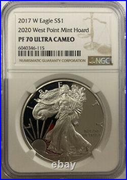 2017(2020)-W Silver Eagle West Point Mint Hoard NGC PF 70 UCAM