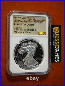 2017 W Proof Silver Eagle Ngc Pf70 2020 West Point Mint Hoard Magnum Opus Label