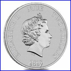 2018 Niue Silver $2 Disney Scrooge McDuck MINT ERROR MS69 ER NGC Coin