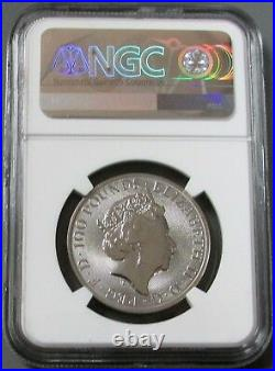 2018 PLATINUM 1oz GREAT BRITAIN 100 PDS GRIFFIN OF EDWARD III NGC MINT STATE 69