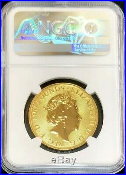 2019 Gold Great Britain 100 Pounds Queen's Beasts Falcon Coin Ngc Mint State 69