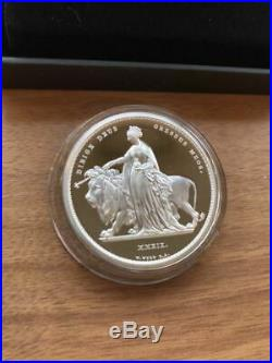 2019 UK Royal Mint Great Engravers Una and the Lion 2oz Silver Proof Coin JP