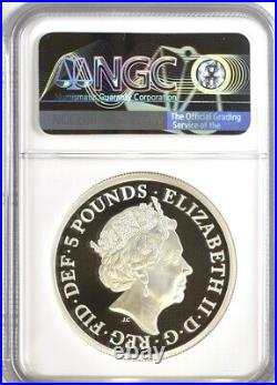 2019 Una and the Lion Silver Proof £5, NGC PF70 Ultra Cameo Royal Mint Engravers