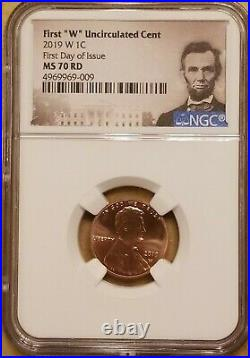 2019-W NGC US Mint Lincoln Memorial Cent MS70 RD 1ST DAY OF ISSUE, FDOI