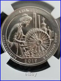 2019 W Quarter Lowell 25C Mint Error Huge Obverse Struck Thru