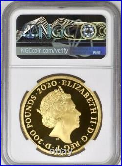 2020 Gold Proof David Bowie £200 2oz. NGC PF70 UCAM. First Releases Royal Mint