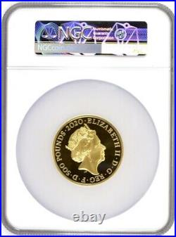 2020 Gold Proof David Bowie £500 5oz. NGC PF70 UCAM. First Releases Royal Mint