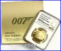 2020 Gold Proof James Bond Shaken Not Stirred £100 (1oz) NGC PF70UCAM Royal Mint