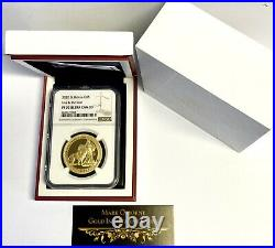 2020 Gold Proof Una and the Lion, St Helena, East India Mint NGC PF70 Ultra Cam