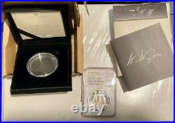 2020 NGC PF70 UC 2oz Silver Proof 3 Graces. Royal Mint Great Engravers series