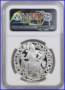 2020 Royal Dutch Mint Re-Strike Lion Dollar 1 oz. 9999 Silver NGC PF70 UC ER