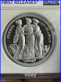 2020 Royal Mint 2 oz Silver Three Graces £5 NGC First Releases PF70 Ultra Cameo