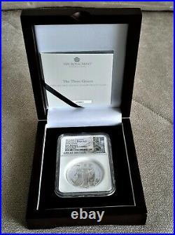 2020 Royal Mint The Three Graces 2oz Silver NGC PF70 First Releases