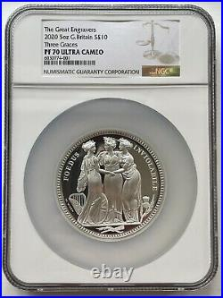 2020 Royal Mint Three Graces Silver Proof 5oz NGC PF70 Ultra Cameo