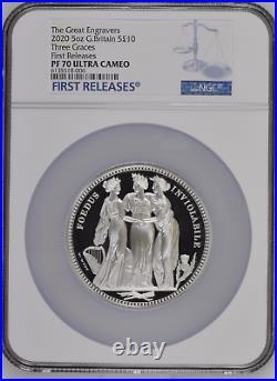 2020 Royal Mint Three Graces Silver Proof Five Ounce 5oz NGC PF70 UCAM FR