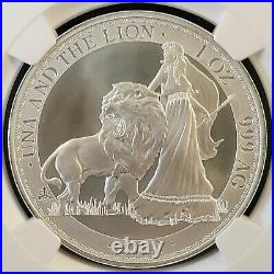 2020 St Helena UNA and the LION 1oz Silver Coin NGC MS69 Only 5k Minted