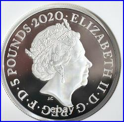 2020 Three Graces Two Ounce 2oz £5 Silver Proof NGC PF70 Royal Mint