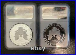 2020 W V75 Silver Eagle PF 70 Ultra Cameo NGC WWII Anniversary (Lot Of 2)
