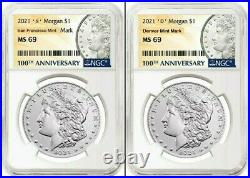2021 Morgan Silver Dollar NGC MS 69' S' &' D' Mint Mark PreSale