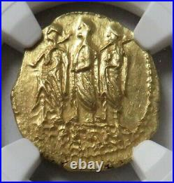 54 Bc. Gold Ancient Thracian / Scythian Stater Coson Coin Ngc Mint State 4/5
